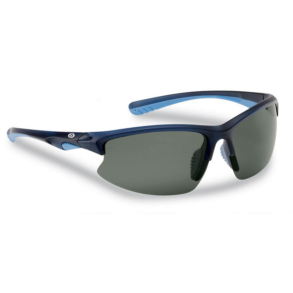 5dc56dbe641 Flying Fisherman Drift Polarized Sunglasses Crystal Navy Frame with Smoke  Lens