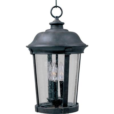 Dover DC 3-Light Bronze Outdoor Hanging Lantern