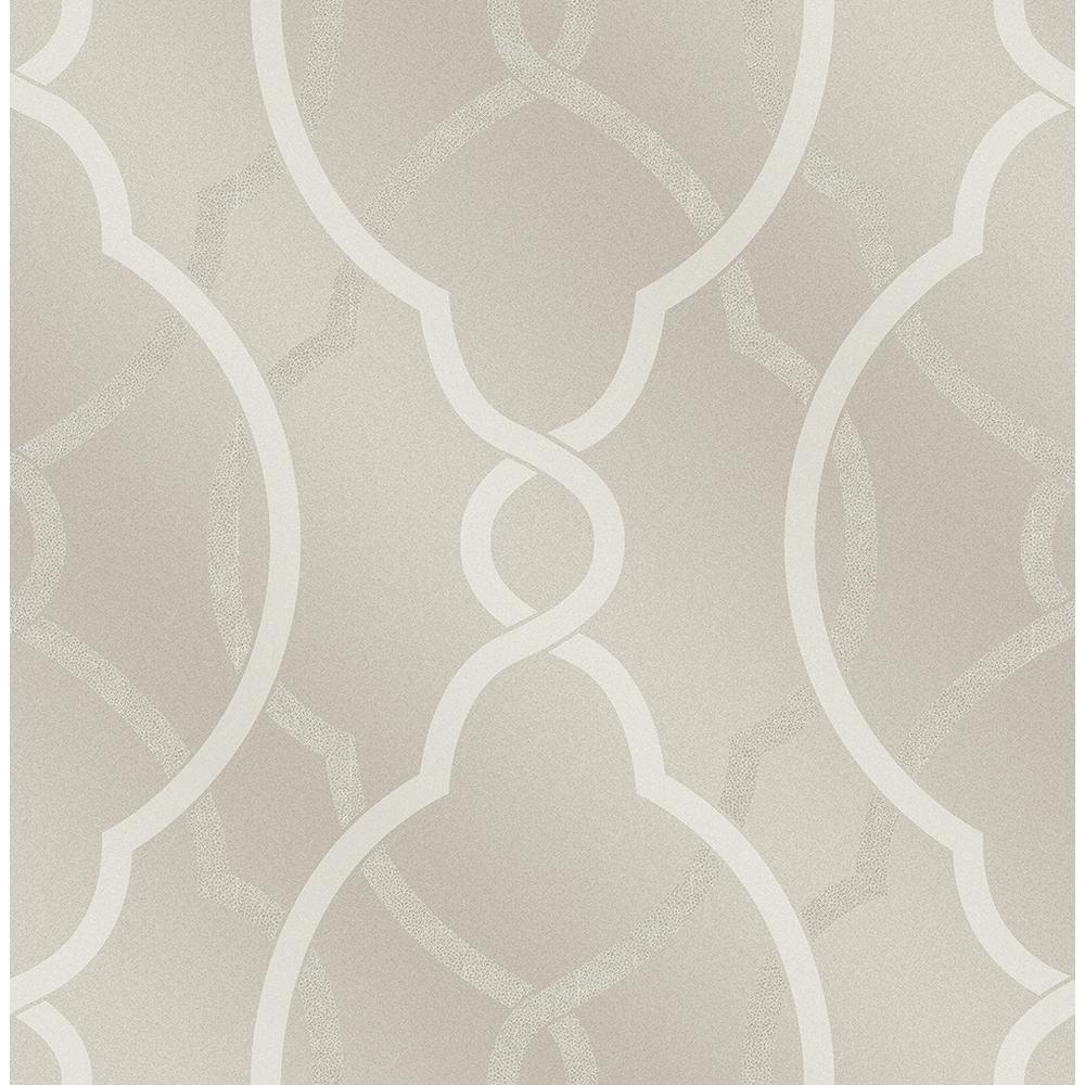 A-Street Sausalito Champagne Lattice Wallpaper-2697-87304