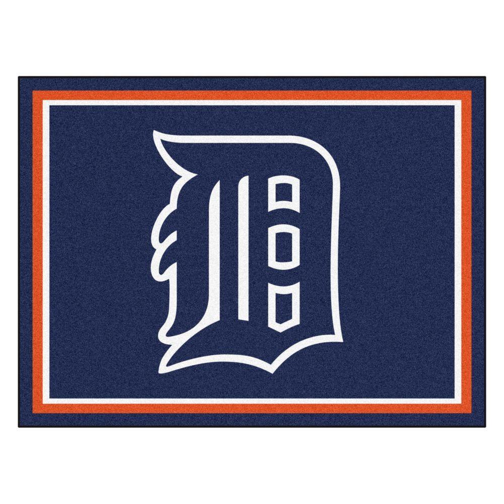 MLB Detroit Tigers Navy Blue 8 ft. x 10 ft. Indoor Area Rug