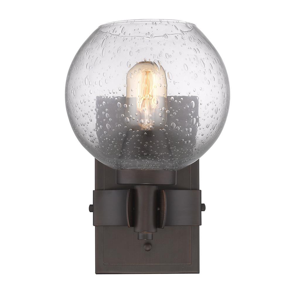 Galveston Rubbed Bronze 1-Light Bath Light