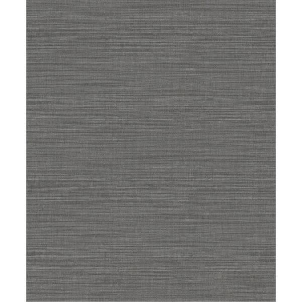 Advantage 57.8 sq. ft. Ashleigh Taupe Linen Texture Wallpaper 2812-AR40134