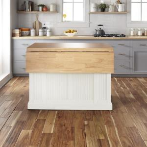 Incredible Homestyles Nantucket White Kitchen Island With Wood Top And Uwap Interior Chair Design Uwaporg