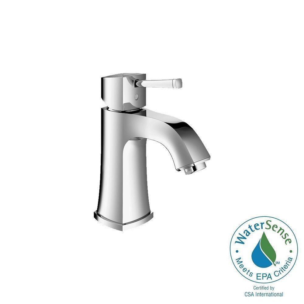 Grandera Deck-Mount 4 in. Centerset Single-Handle Low Arc Bathroom Faucet in