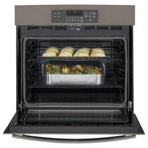 GE 30 in Single Electric Wall Oven SelfCleaning in Slate
