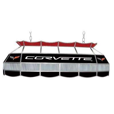 Corvette C6 3-Light Stained Glass Hanging Tiffany Lamp