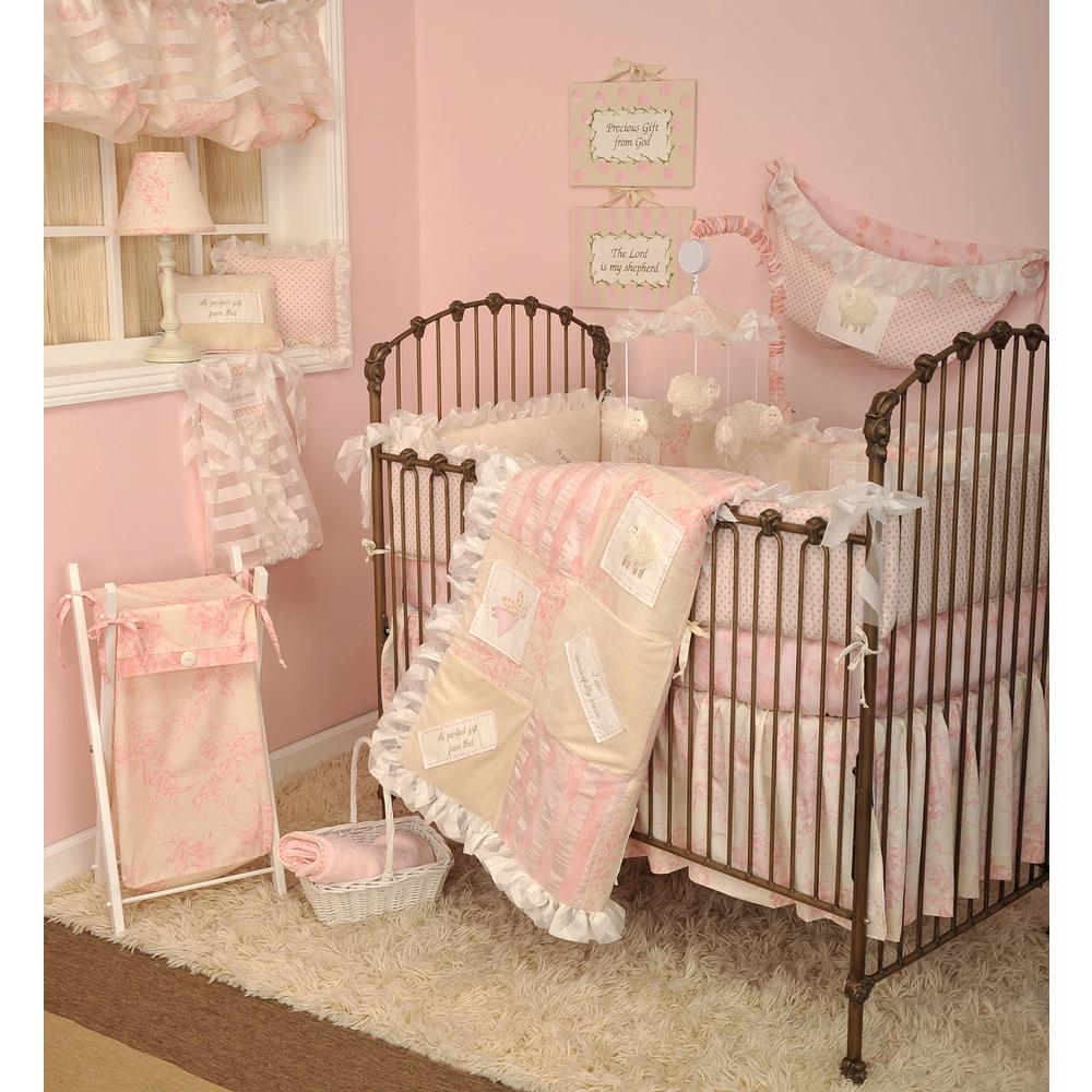 Cotton Tale Designs Heaven Sent Pink 4 Piece Crib Bedding Set