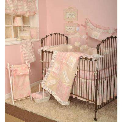 Heaven Sent Girl Pink 4-Piece Crib Bedding Set
