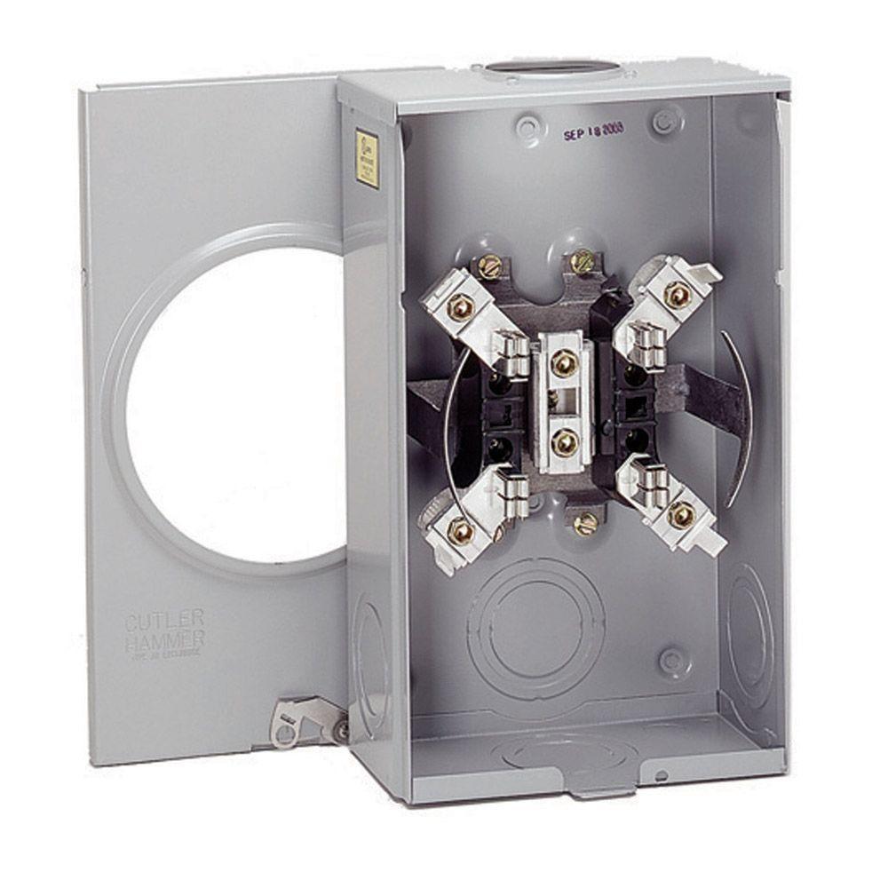 eaton 200 amp single meter socket-1004455bch