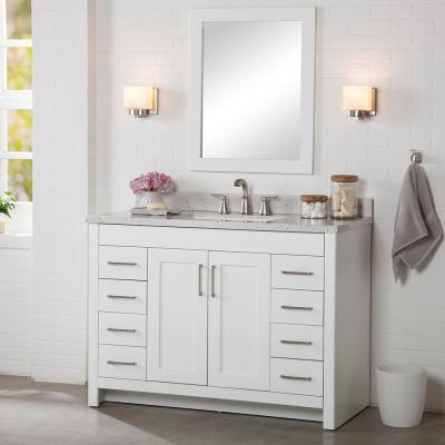 Westcourt 48 in. W x 21 in. D x 34 in. H Bath Vanity Cabinet Only in White