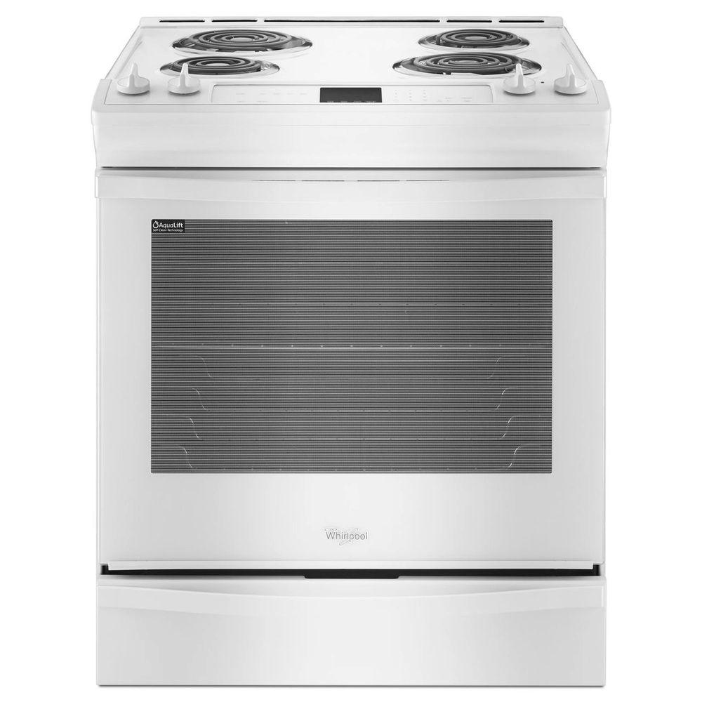 Whirlpool 6.2 cu. ft. Slide-In Electric Range with Self-Cleaning Oven in White
