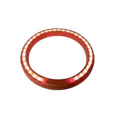 13 in. Terra-Cotta Lighted Halo Ring Indoor Planter Accessory