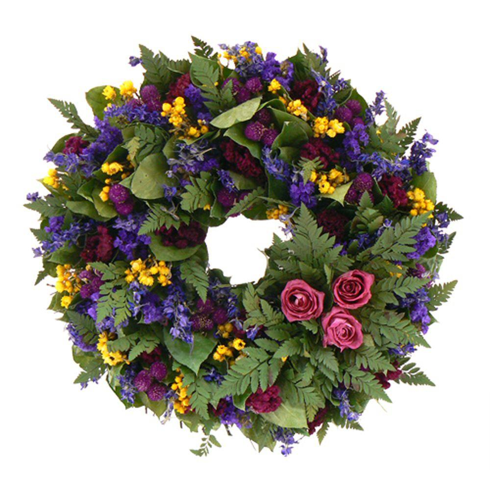 The Christmas Tree Company Loving Spring 16 in. Dried Floral Wreath