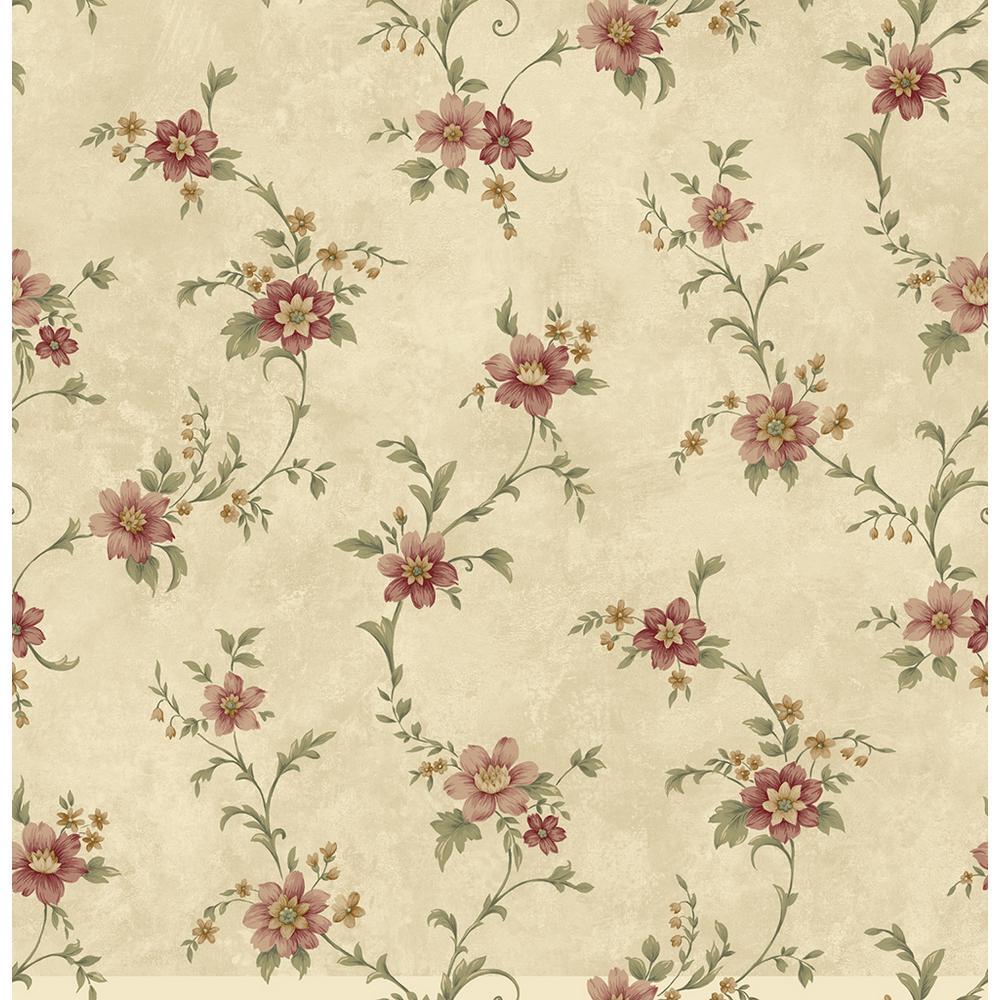 Chesapeake elizabeth bronze floral trail wallpaper cg11339 - Floral wallpaper home depot ...
