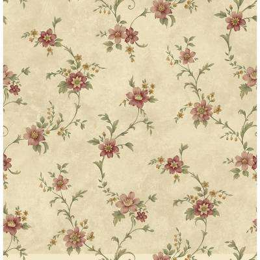 Elizabeth Bronze Floral Trail Wallpaper