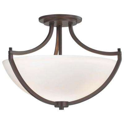 Middlebrook 3-Light Vintage Bronze Semi-Flush Mount Light