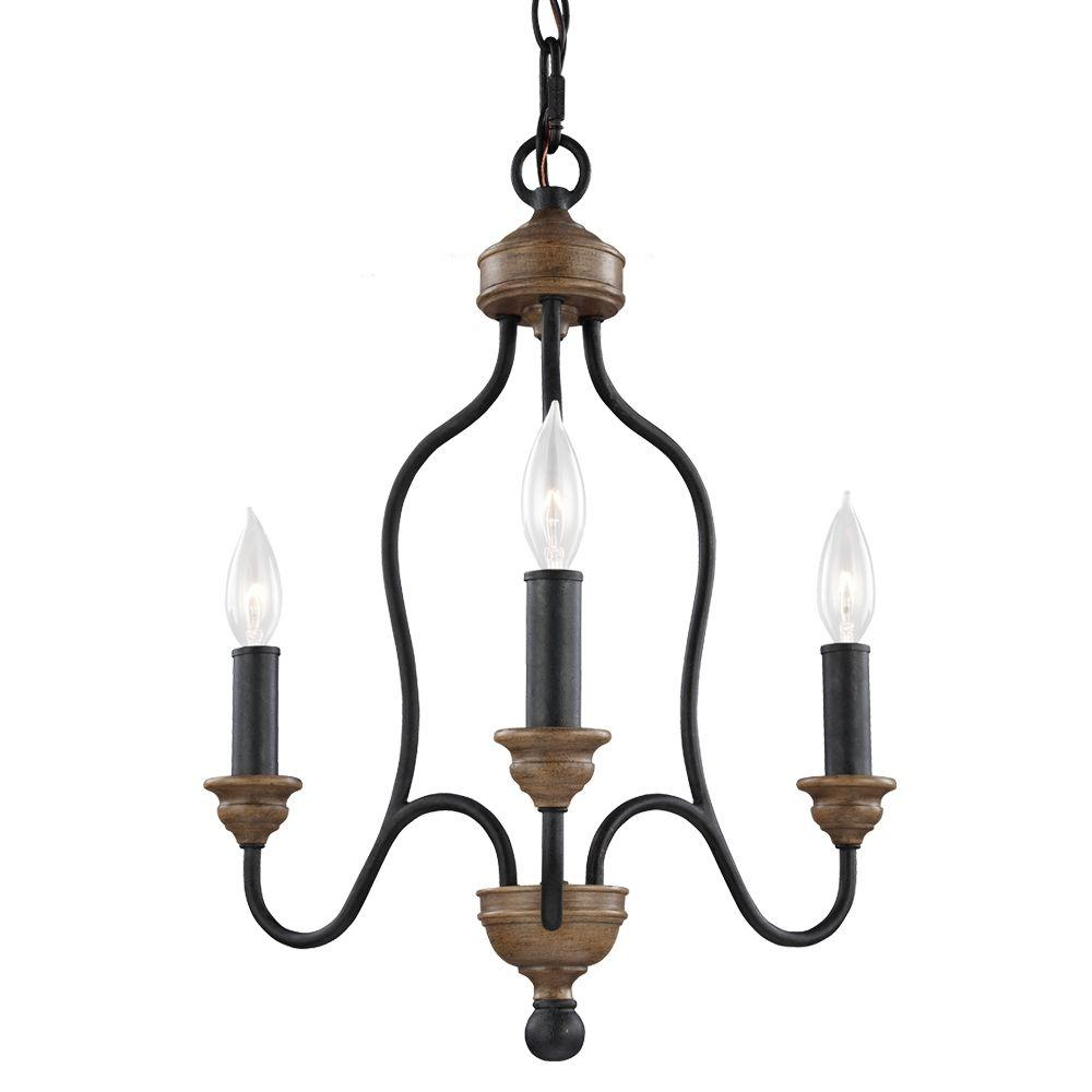 Feiss hartsville 3 light dark weathered zincweathered oak single feiss hartsville 3 light dark weathered zincweathered oak single tier chandelier mozeypictures Image collections