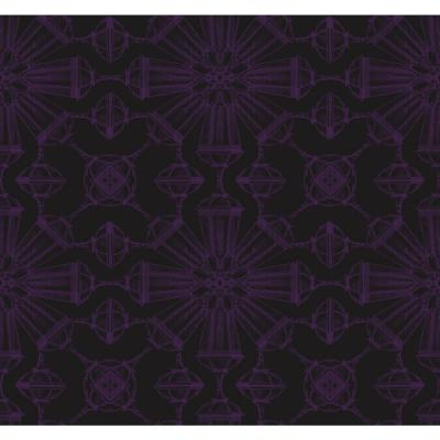 Divine Jet Black and Metallic Purple Goblet Wallpaper