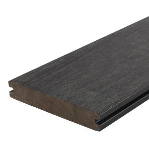 UltraShield Naturale Magellan 1 in. x 6 in. x 8 ft. Hawaiian Charcoal Solid with Groove Composite Decking Board