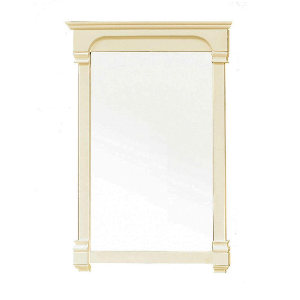 Bellaterra Home Harmon 42 In L X 24 In W Solid Wood Frame Wall Mirror In Cream White 205024 Mirror Cr The Home Depot