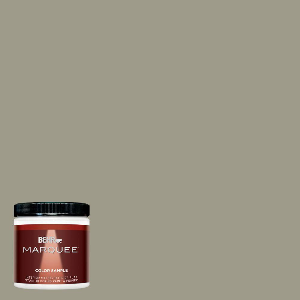 BEHR MARQUEE 8 oz. #MQ6-26 Milk Thistle One-Coat Hide Matte Interior/Exterior Paint and Primer in One Sample