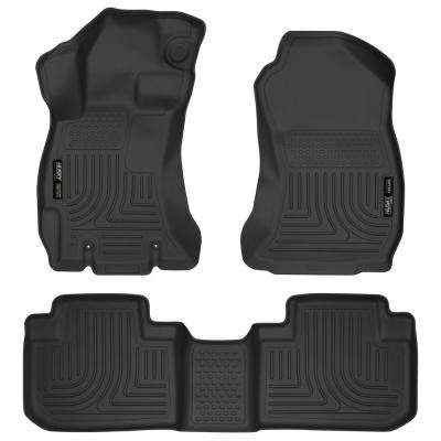 Front & 2nd Seat Floor Liners Fits 14-18 Forester
