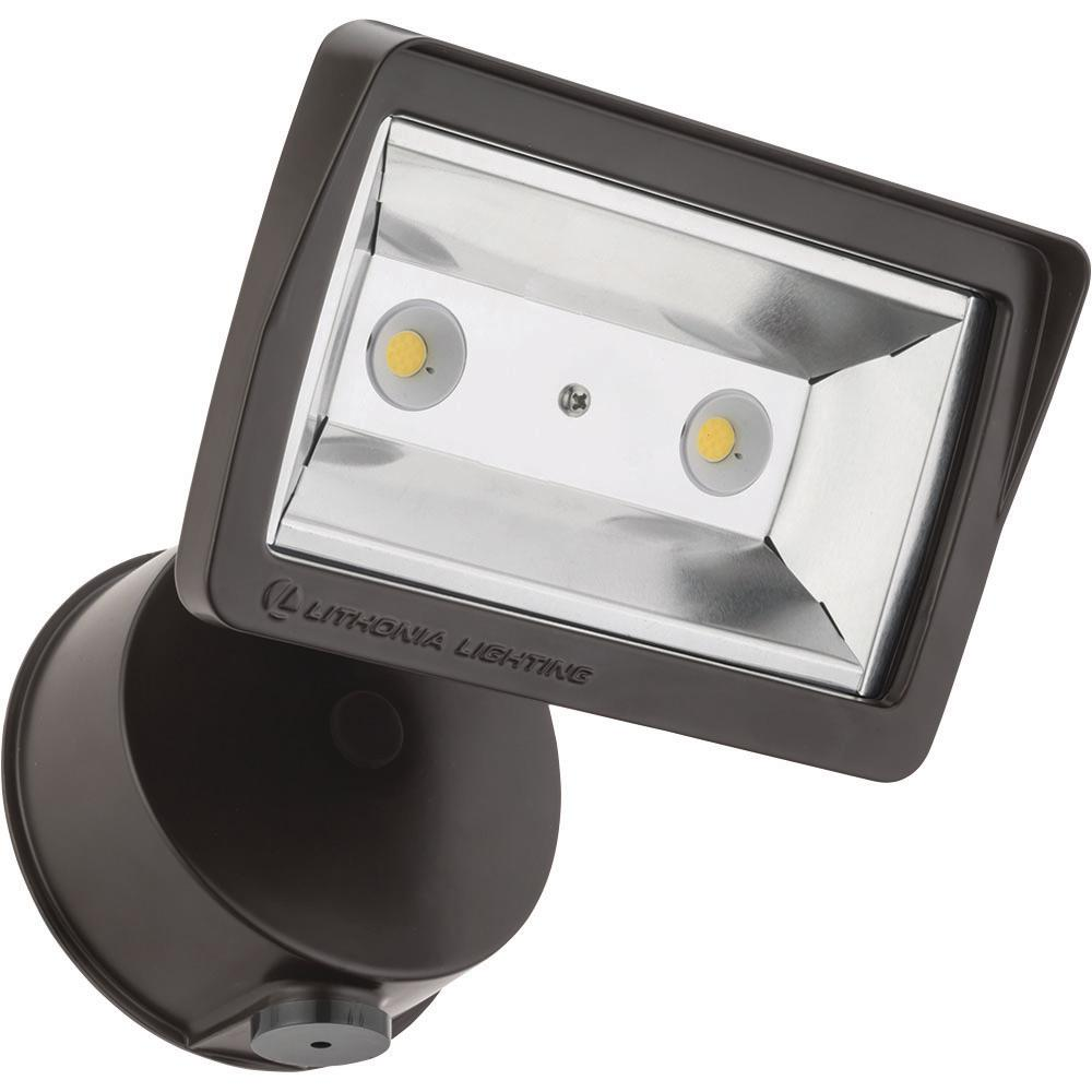 Led Flood Lights Product : Lithonia lighting bronze outdoor integrated led wall mount