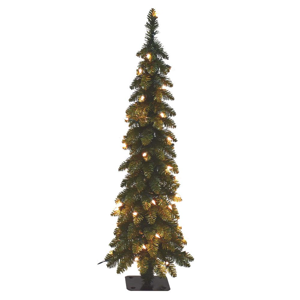 4 Ft Pre Lit Pencil Slim Artificial Tree With 70 Ul Lights 15960