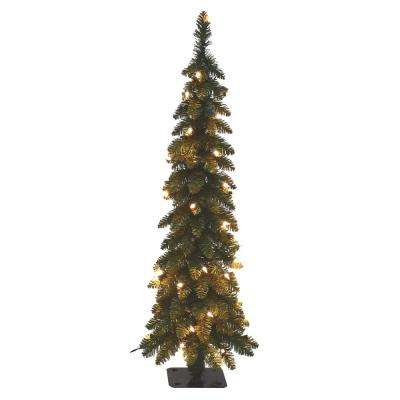pre lit pencil slim artificial tree with 70 ul lights - Pictures Of White Christmas Trees Decorated