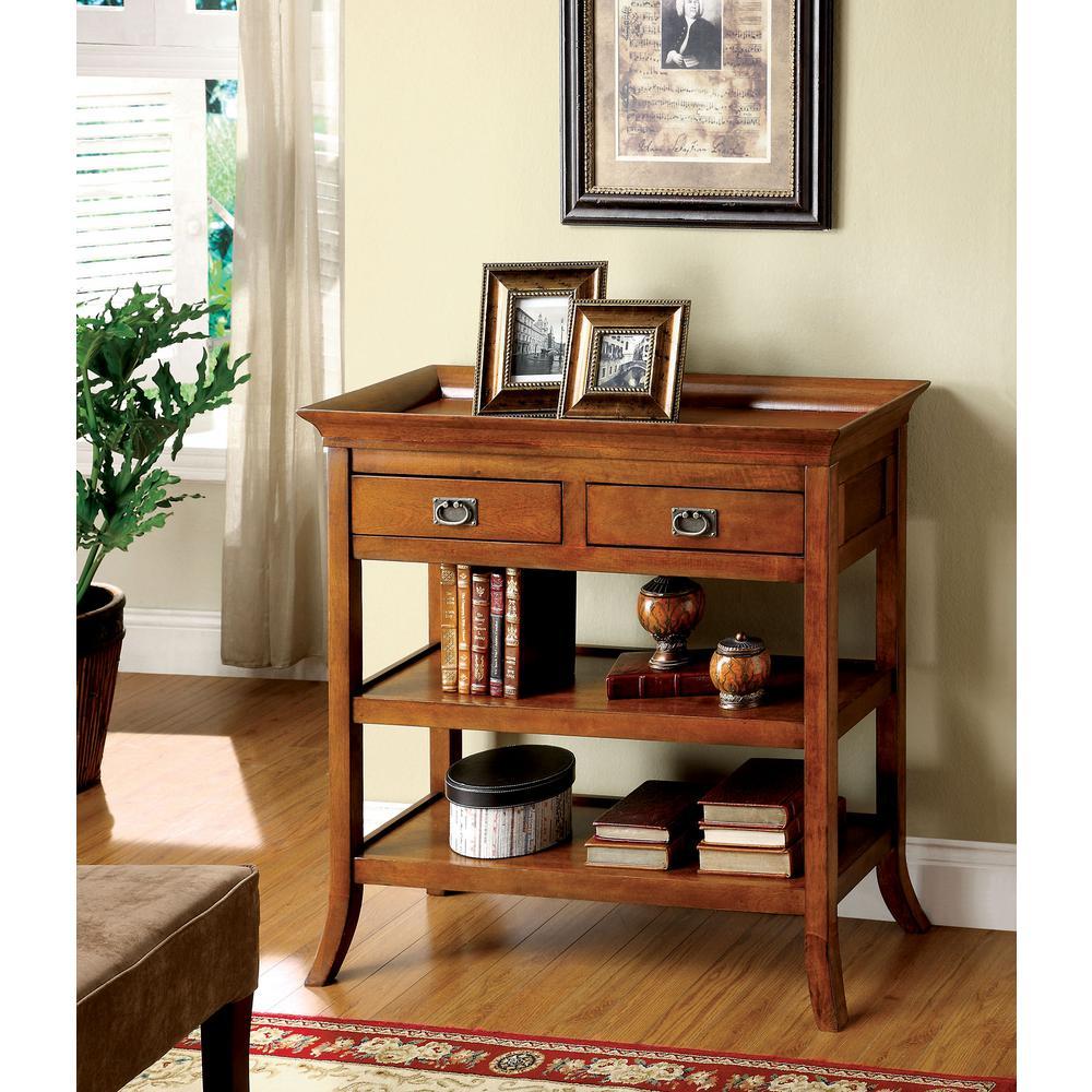Williams Import Wickenburg Medium Oak Finish Side Table With Drawers