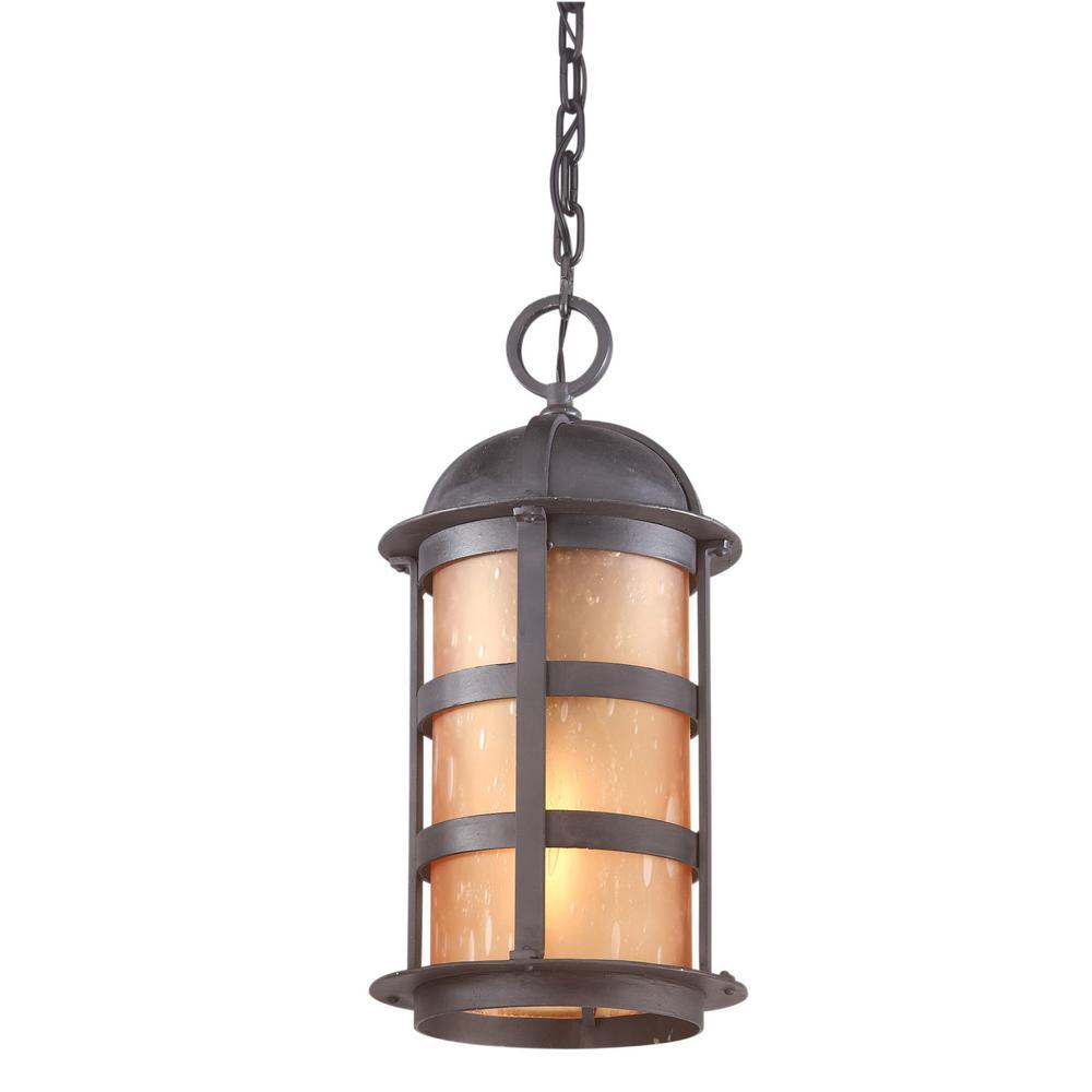 Aspen 1-Light Natural Bronze Outdoor Pendant