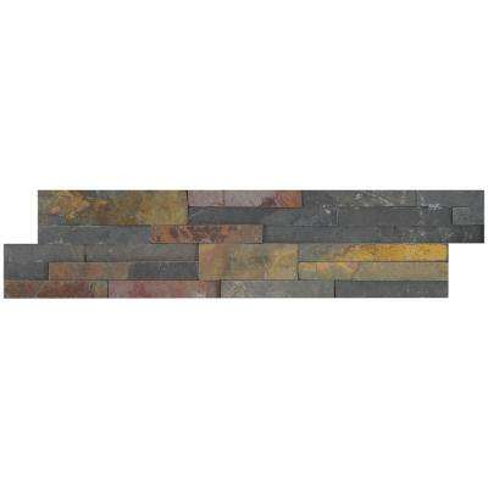 Salvador Multi Panel Ledger Panel 6 in. x 24 in. Natural Slate Wall Tile