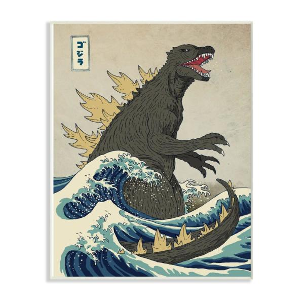 The Stupell Home Decor Collection 10 In X 15 Godzilla