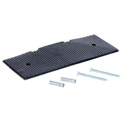 23.5 in. x 2 in. Rubber Female End Cap with Concrete Kit for 108 in. Speed Bump