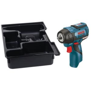 Bosch 12-Volt Lithium Ion 3/8 inch MAX EC Brushless Impact Wrench (Bare Tool) with Exact-Fit Insert Tray by Bosch