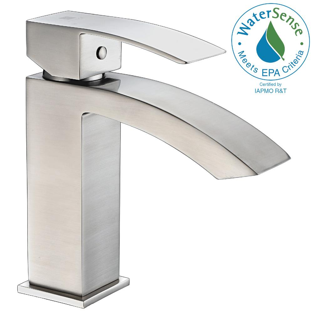 Revere Series Single Hole Single-Handle Low-Arc Bathroom Faucet in Brushed