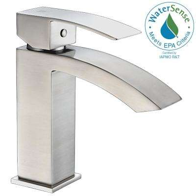 Revere Series Single Hole Single-Handle Low-Arc Bathroom Faucet in Brushed Nickel
