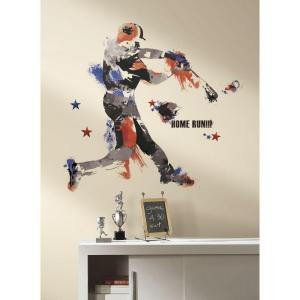RoomMates 32.5 inch x 32.7 inch Baseball Champion Giant Peel and Stick Wall... by RoomMates