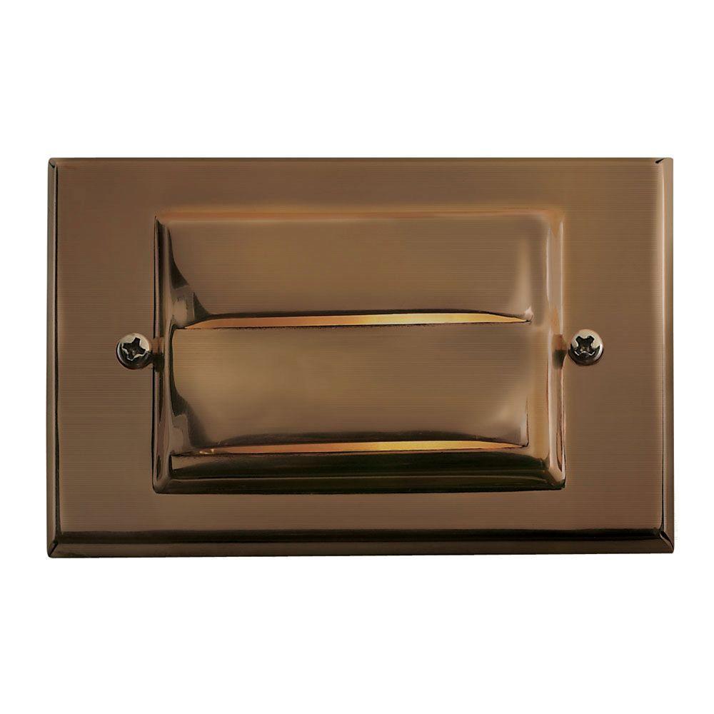 Low-Voltage 12-Watt Matte Bronze Brass Horizontal Deck Light