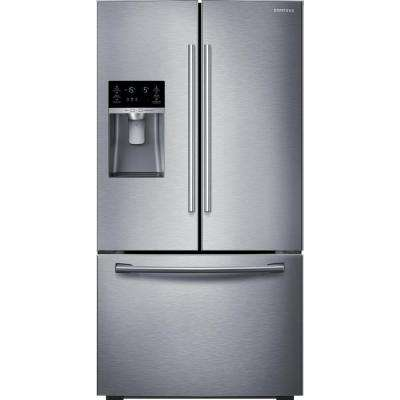 22.5 cu. ft. French Door Refrigerator in Stainless Steel, Counter Depth