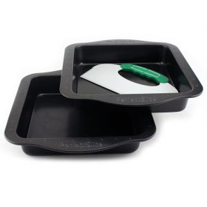 BergHOFF Perfect Slice 3-Piece Square Bakeware Set with Cutting Tool by BergHOFF