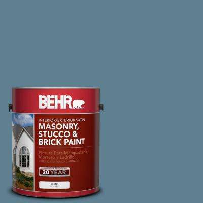 1 gal. #S470-5 Blueprint Satin Interior/Exterior Masonry, Stucco and Brick Paint