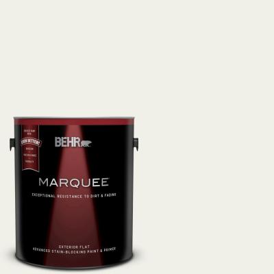 Behr Marquee 1 Gal 75 Polar Bear Flat Exterior Paint And Primer In One 445001 The Home Depot