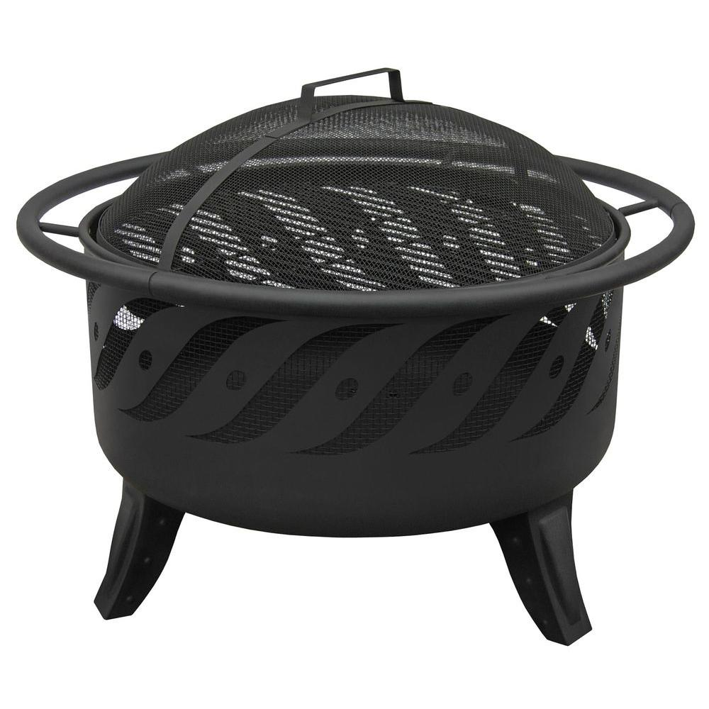 Portable Fire Pits Home Depot : Landmann patio lights firewave black fire pit the