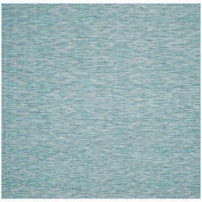 Square - Blue - Solid/Gradient - Outdoor Rugs - Rugs - The Home Depot