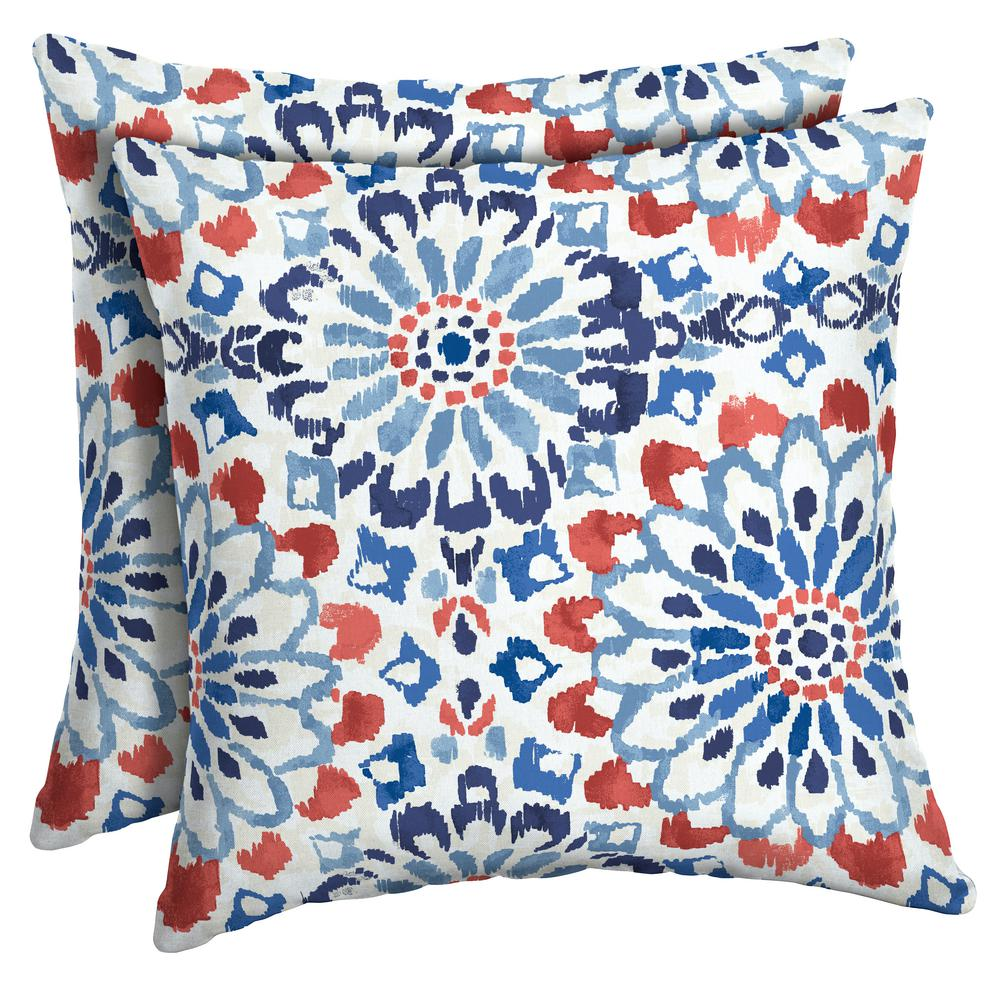 Arden Selections 16 X 16 Clark Square Outdoor Throw Pillow 2 Pack
