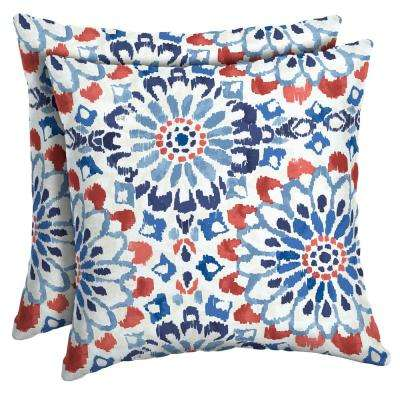 16 x 16 Clark Square Outdoor Throw Pillow (2-Pack)