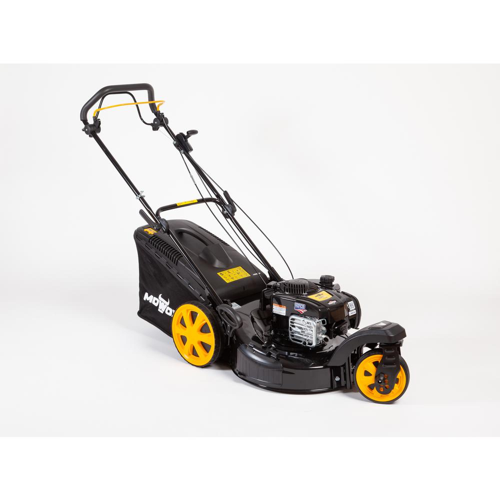 MOWOX 21 in. Zero-Turn Gas Self-Propelled High Wheel Walk Behind Mower with Briggs and Stratton 675exi, 163cc Engine, 3-n-1