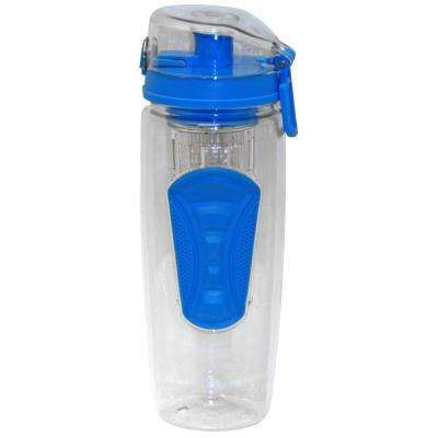 32 oz. Blue Plastic Tritan Hydration Bottle with Infuser (6-Pack)