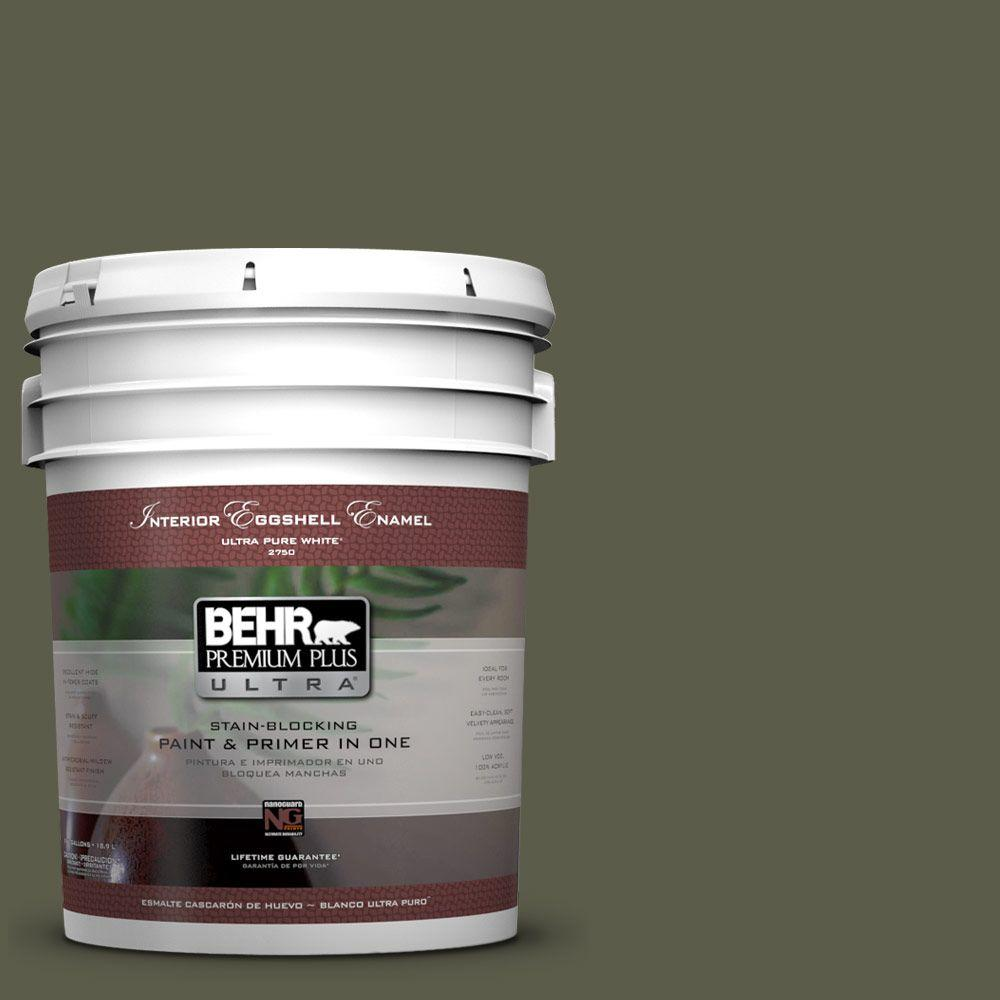 BEHR Premium Plus Ultra 5-gal. #UL200-23 Fig Leaf Eggshell Enamel Interior Paint